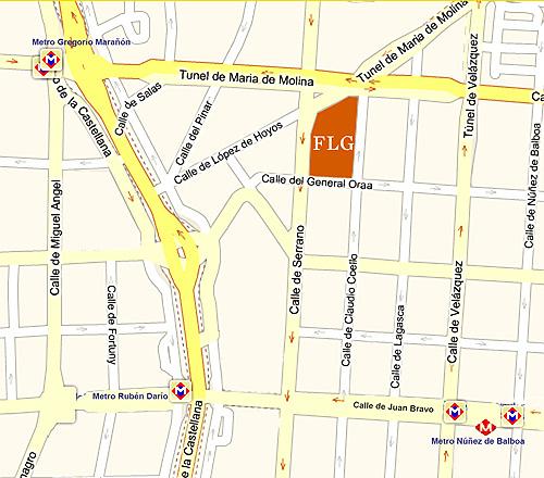 Ubicación del Museo Lázaro Galdiano. Medios de transporte más próximos