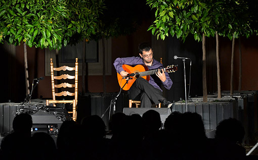 Concierto de Javier Conde en el jardín del Museo Lázaro Galdiano