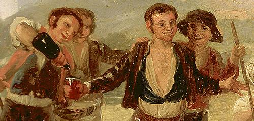 """Detalle de """"La Era o El Verano"""" de Goya."""