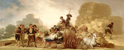 """Pintura """"La Era o El Verano"""" de Francisco de Goya y Lucientes. Museo Lázaro Galdiano"""