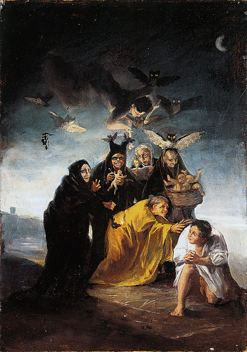 """Goya """"Las Brujas"""". Número de inventario 2004 del Museo Lázaro Galdiano"""