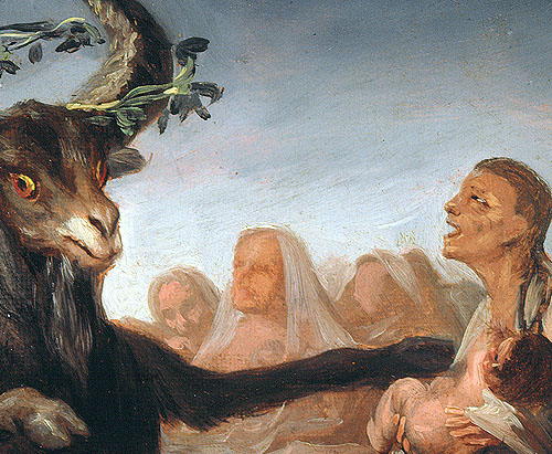 """Detalle de """"El Aquelarre"""" de Goya que se conserva en el Museo Lázaro Galdiano"""