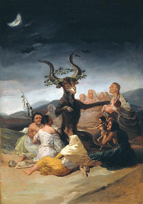 """""""El Aquelarre"""" de Goya. Museo Lázaro Galdiano. Imagen foto."""