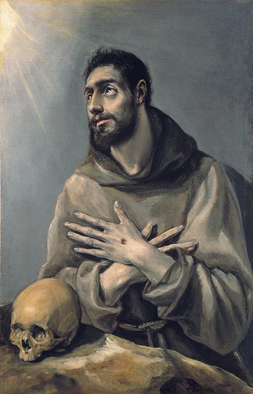 """El Greco: """"San Francisco en éxtasis"""". Museo Lázaro Galdiano"""