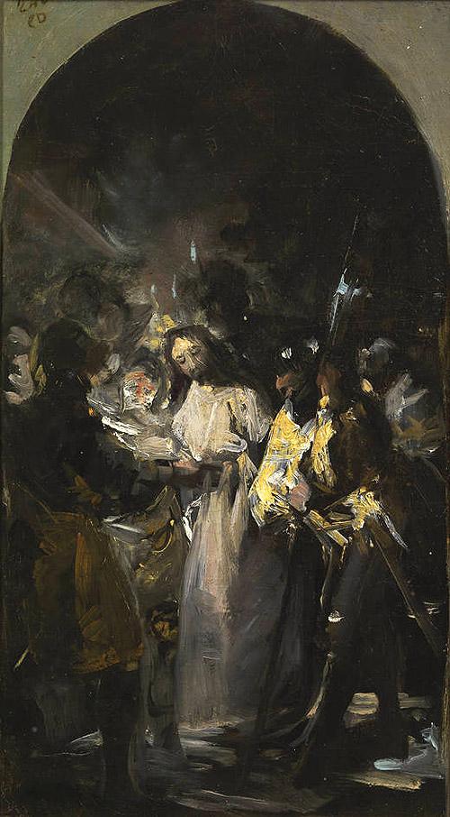 Imagen completa del boceto de Goya cedido temporalmente por el Museo del Prado al Museo Lázaro Galdiano