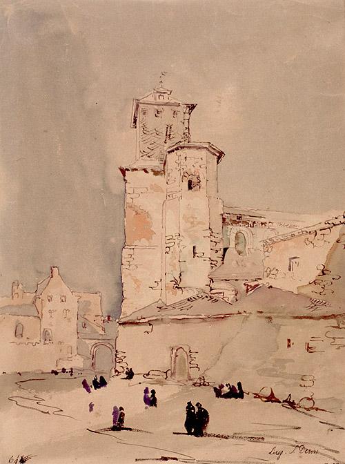 Iglesia de Saint Dennis por Jenaro Pérez Villaamil. Museo Lázaro Galdiano