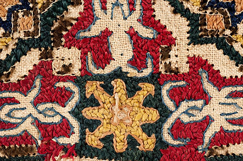 Detalle de tejido del Museo de la Fundación Lázaro Galdiano (número de inventario 11478)