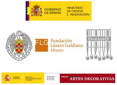 """Logos de los colaboradores y patrocinadores del simposio internacional """"La investigación textil y los nuevos métodos de estudio"""""""