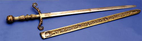 Espada del segundo Conde de Tendilla, Giacomo Magnolino. Museo Lázaro Galdiano. Nº Inventario 3204. Ver ficha de inventario al hacer clic en la imagen.