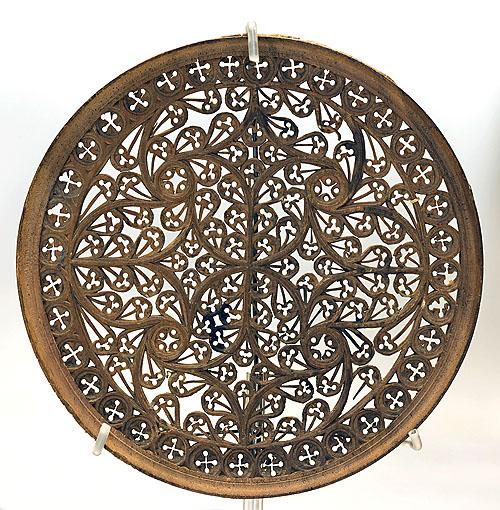 """Lazo de 36 de instrumento de tecla. España, siglo XVI. Madera de boj (nº inv. 350). Museo Lázaro Galdiano. Proyecto """"Musas, Música, Museos""""."""