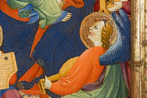 """Otro detalle de la obra de Juan Hispalense conservada en el Museo Lázaro Galdiano (nº inv. 2798). Proyecto """"Musas, Música, Museos""""."""