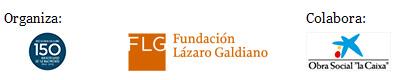 """Logos de los organizadores-colaboradores de la exposicion """"Itinerario y memoria de José Lázaro"""""""