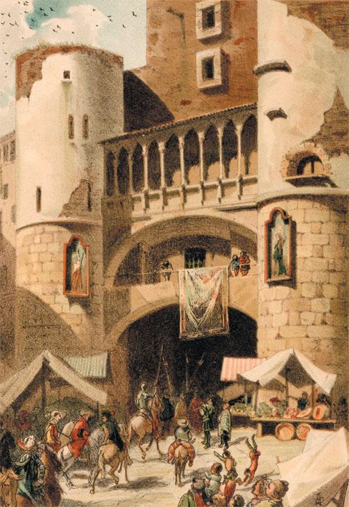 """Ilustración de Apel·les Mestres para la edición comentada de """"El ingenioso hidalgo Don Quijote de la Mancha"""", A. de Bofarull, Barcelona, 1879. Revista """"Goya"""" 339"""