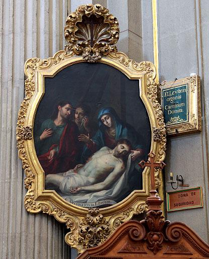 """José de Ibarra: """"Lamentación"""", 1753. Catedral de Puebla, México. (Foto: Eduardo Limón, reproducción autorizada por el Instituto Nacional de Antropología e Historia). Revista """"Goya"""" 339"""
