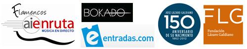 Logos de los colaboradores de los conciertos flamencos en la Fundación Lázaro Galdiano
