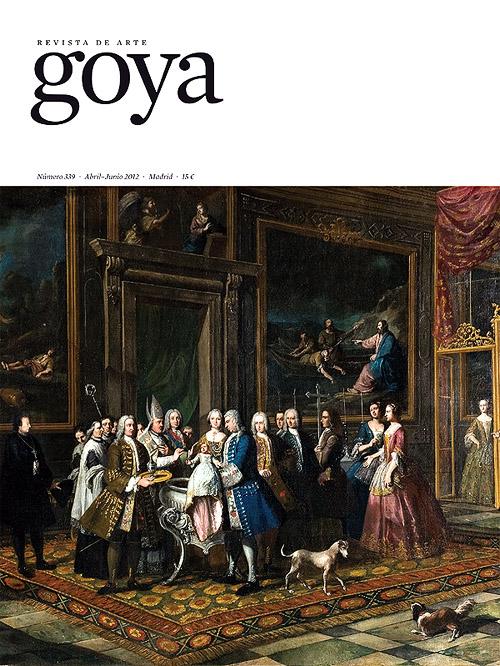 """Portada del número 339 de la revista de arte """"Goya"""" (abril-junio 2012)"""