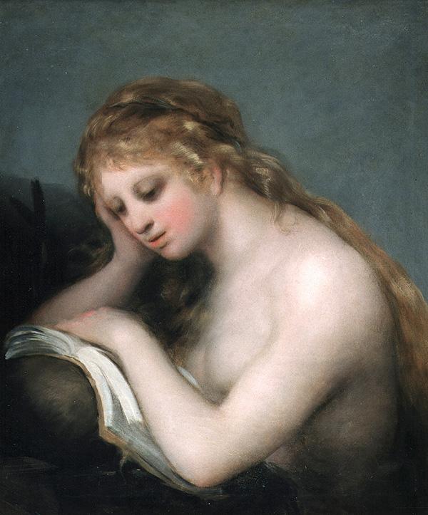 """Goya """"La Magdalena penitente"""". Museo Lázaro Galdiano. Nº de inventario 2000"""