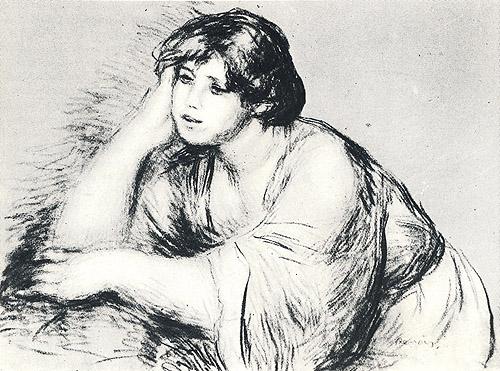 Dibujo de Renoir conservado en la Albertina de Viena