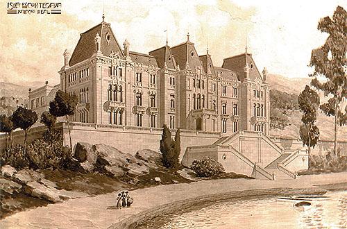 Andrés y Rafael Ripollés: Proyecto de Palacio Real en Cortegada, 1909. (AGP Fotografías. Nº Inv. 10178606)
