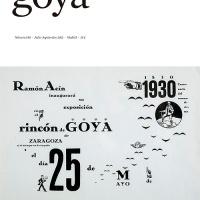 """Número 340 de la revista de arte """"Goya"""" ya disponible. Sumario, resúmenes en español e inglés de los artículos, portada e imágenes"""
