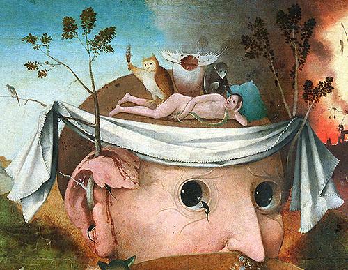 """Detalle central de """"La visión de Tondal"""", obra de un seguidor de """"El Bosco"""" y conservada en el Museo Lázaro Galdiano"""