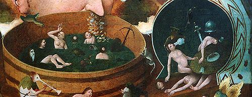 """Iconografía de """"La visión de Tondal"""" de un seguidor de """"El Bosco"""". Museo Lázaro Galdiano"""