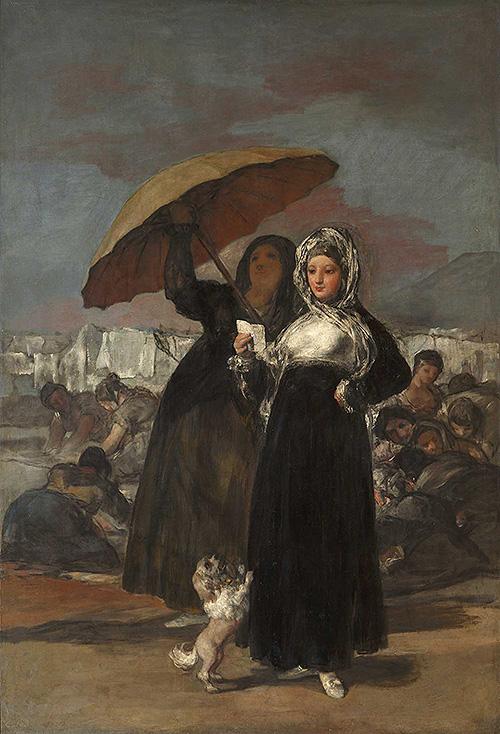 """Goya, """"La carta o las jóvenes"""". """"Goya contrastado"""" en el Museo Lázaro Galdiano"""