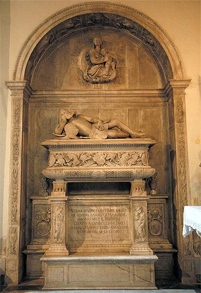 Círculo de Annibale Caccavello (atrib.): Sepulcro de Federico de Urriés, ca. 1551. Iglesia de San Giacomo degli Spagnoli, Nápoles.