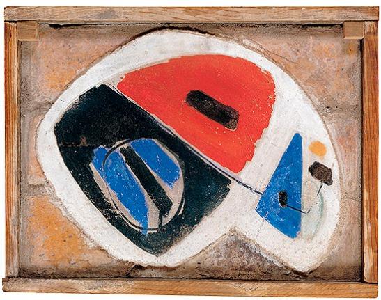 """José Guerrero: """"Sin título"""", c. 1951-1952. Colección familia Guerrero. (© José Guerrero. VEGAP, Madrid, 2012)"""