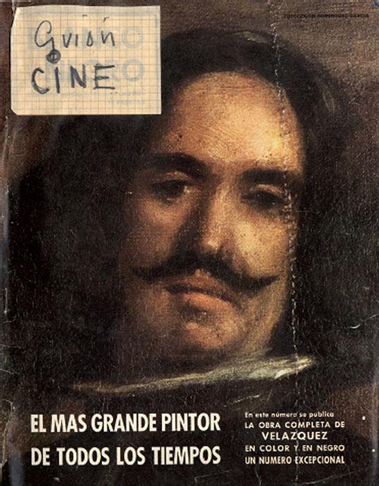 """Portada de """"Blanco y Negro"""" nº 2519 modificada por Oteiza. Numero dedicado a Velázquez. Hemeroteca de la Fundación Museo Jorge Oteiza"""