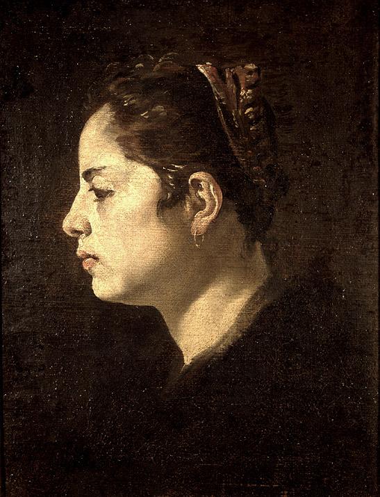 """DIEGO VELÁZQUEZ: """"Cabeza de mujer"""". Hacia 1623. Museo Lázaro Galdiano"""
