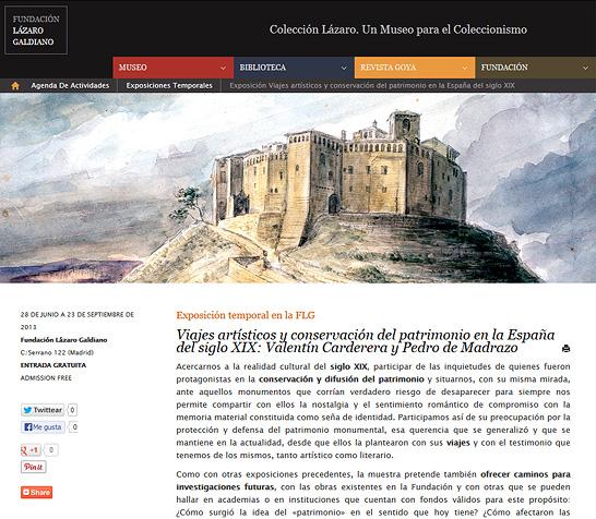 Imagen de la nueva exposición de la FLG en la nueva web