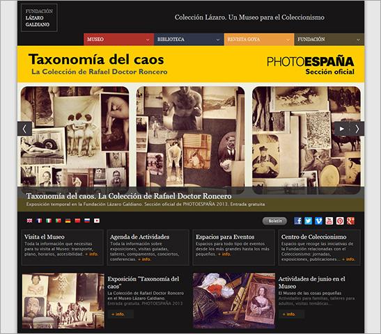 Imagen de la portada de la nueva web de la Fundación Lázaro Galdiano