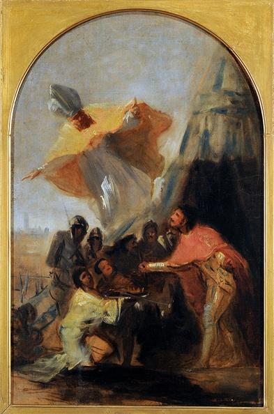 """Francisco de Goya: """"Aparición de San Isidoro a Fernando III el Santo"""". Museo de Bellas Artes de Buenos Aires"""