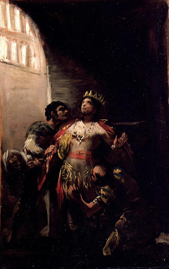 """Francisco de Goya: """"San Hermenegildo en prisión"""". Museo Lázaro Galdiano"""