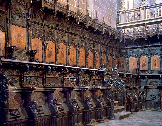 Sillería de la catedral de Plasencia por Rodrigo Alemán