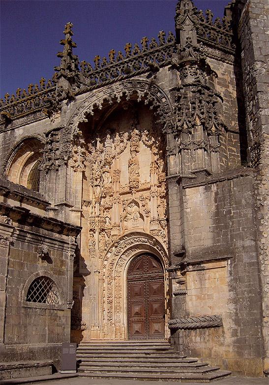 Convento de Tomar, portada sur de la iglesia. Arquitecto: João de Castilho, 1515. (Foto: P. Varela Gomes)