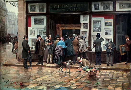 JOAN FERRER MIRÓ: Exposición pública de un cuadro, 1888. Museu National d´Art de Catalunya
