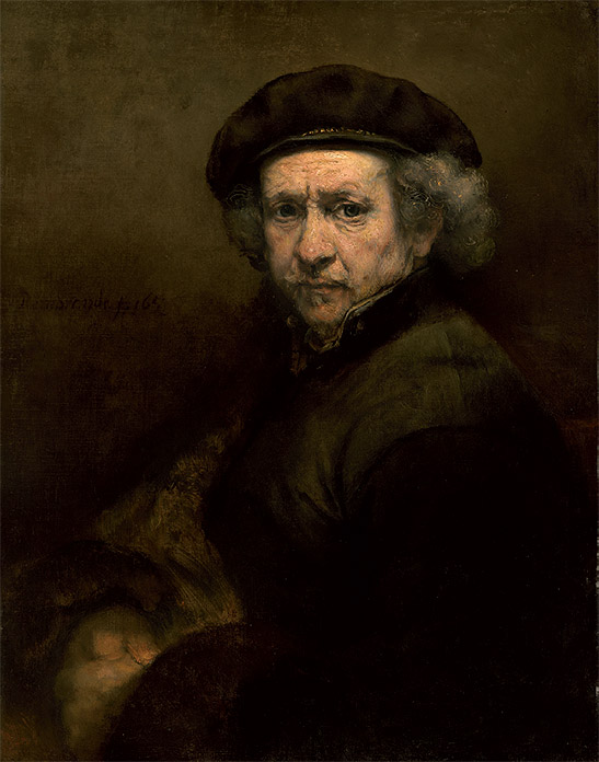 REMBRANDT: Autorretrato, 1659. National Gallery, Washington