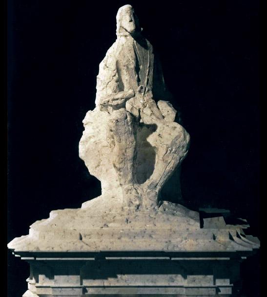 Jorge Oteiza y José María Ruiz Aizpiri: Maqueta de la estatua de Felipe IV, detalle. Archivo de la Fundación-Museo Jorge Oteiza, Alzuza (Navarra)