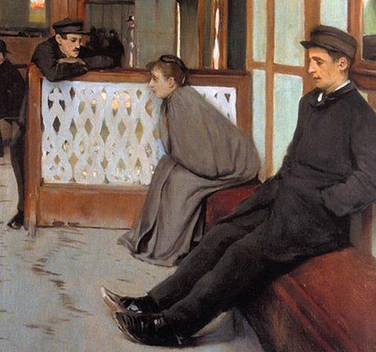 Santiago Rusiñol: Interior del Moulin de la Galette, 1891. Colección particular