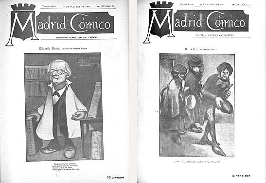 Santana Bonilla en la revista Madrid Cómico
