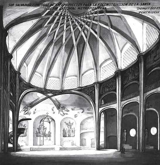 Proyecto de Luis Moya y Joaquín Vaquero para la Catedral de San Salvador