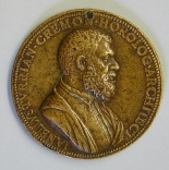 Anverso de la medalla de Juanelo Turriano o Juliano de la Torre del Museo Lázaro Galdiano