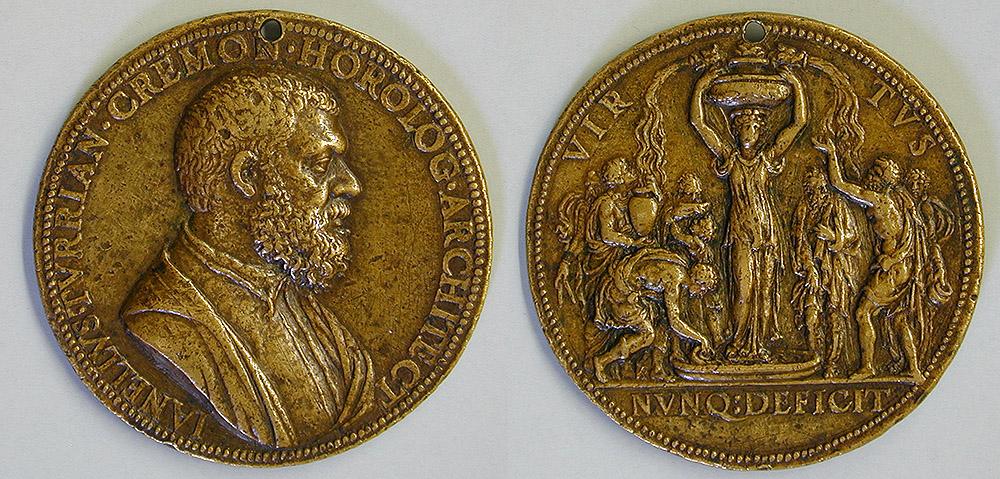 Anverso y reverso de la medalla de Jacomo Nicola da Trezzo conservada en el Museo Lázaro Galdiano