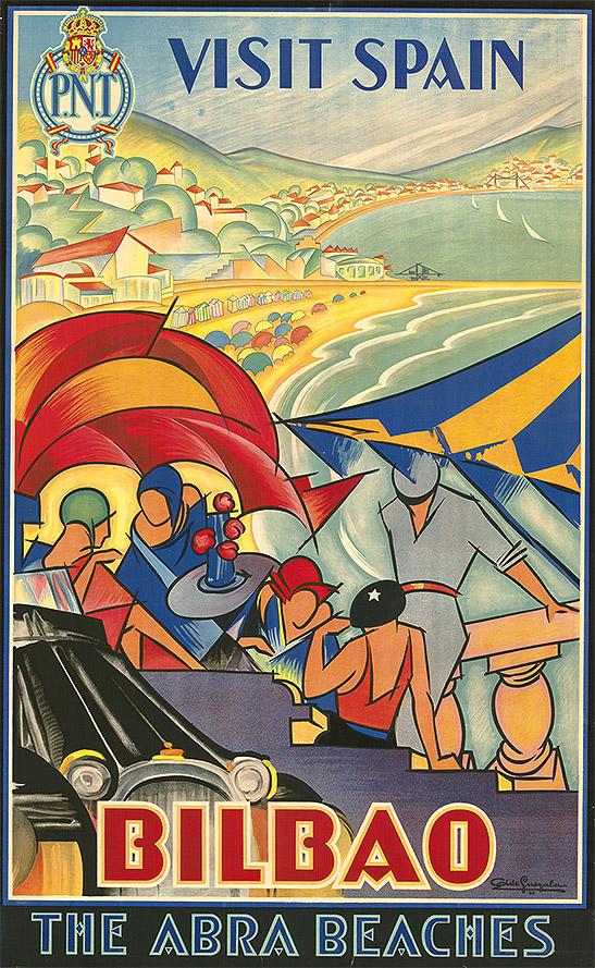 Antonio de Guezala: Cartel de Bilbao en la exposición sevillana de 1929. Centro de Documentación Turística de España, Instituto de Estudios Turísticos