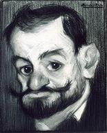 Caricatura de Laserna por Sancha