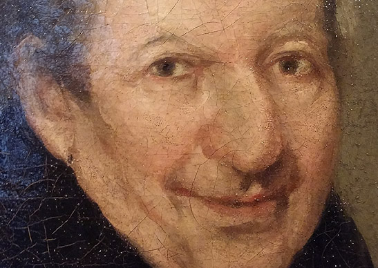 GOYA: Retrato del padre José de la Canal (detalle). Museo Lázaro Galdiano