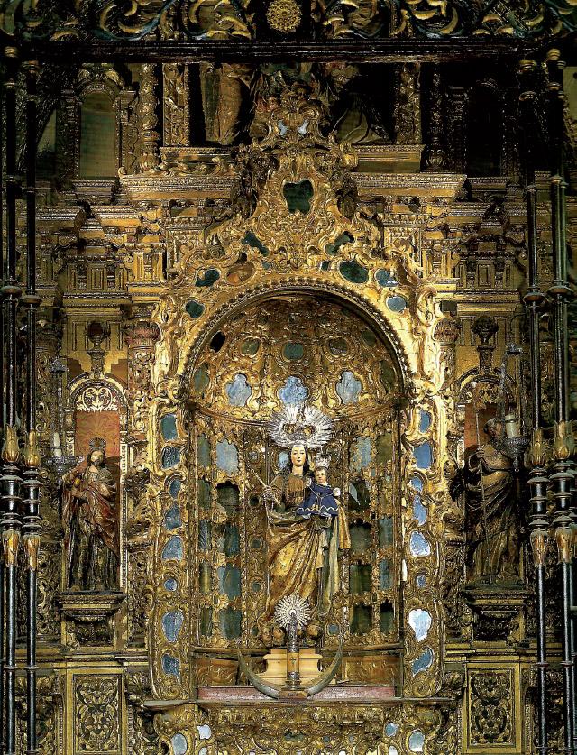 BERNARDO SIMÓN DE PINEDA: retablo de Nuestra Señora del Rosario, 1665-1666. Sagrario de la Catedral de Sevilla