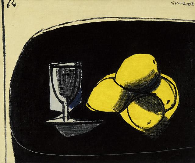 """""""Naturaleza muerta con limones"""", 1964. Museo Nacional de Bellas Artes, Buenos Aires, donación Simón Scheimberg, 1975"""